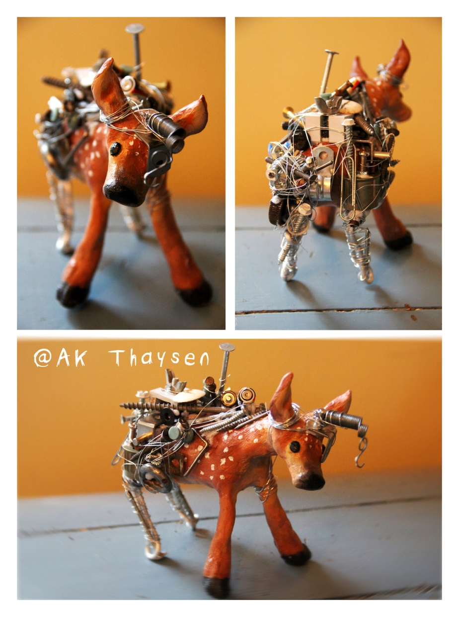 cyber deer small with credit
